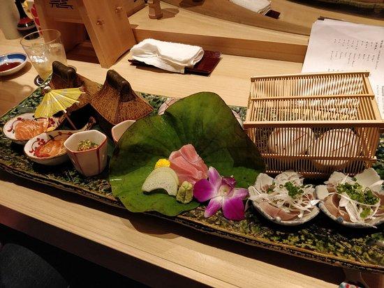 Oedo Ayatori: Sashimi decoration like a village