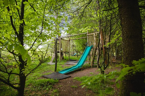 Cwmduad, UK: Children's play park in the woods