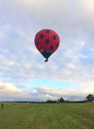 montgolfiere nacelle et coccinelle