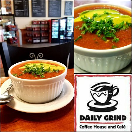 Daily Grind Coffee House and Cafe: Homemade Gazpacho