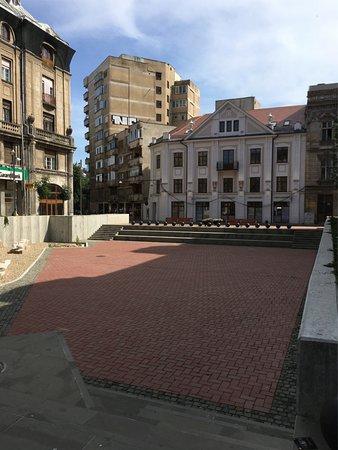 Libertatii Square: The amphitheatre of Piata Sfântul Gheorghe