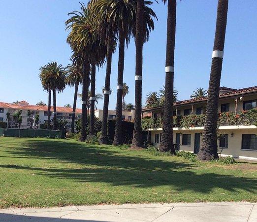 Hotel Milo Santa Barbara: The beautiful lawn is preserved Chumash land