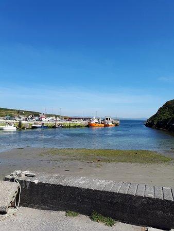Остров Кейп-Клиар, Ирландия: View of the beach and ferry on Cape Clear