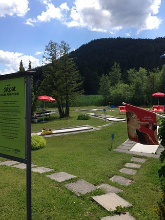 Seefeld in Tirol, Austria: Signs advertise cold drinks, but you'll have to bring them from across the street
