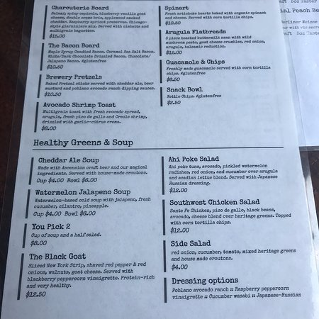 Ascension Brewing Company: Menus as of 6/30/18