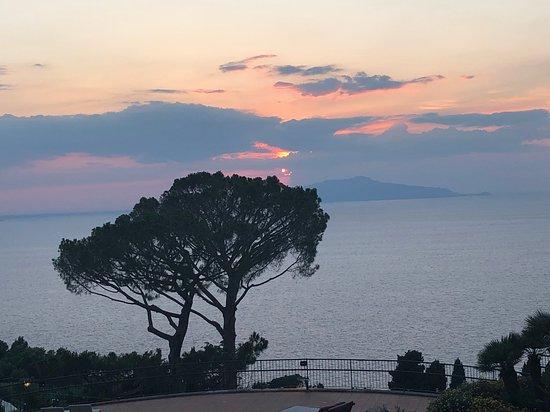 Caesar Augustus Hotel: sunset view from dinner