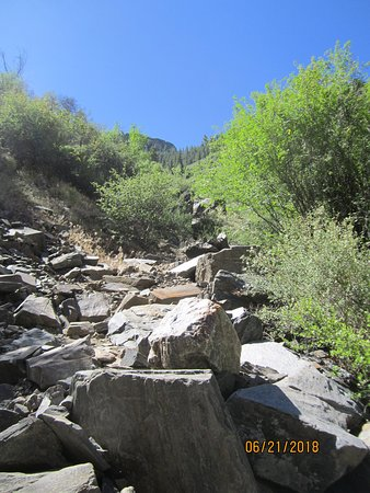 Black Canyon Of The Gunnison National Park: Start of the ascent