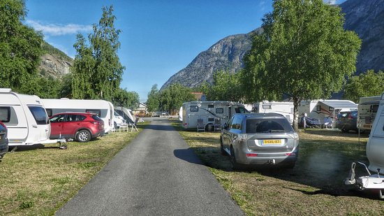 Laerdalsoyri, Norway: Flotte oppstillingsplasser
