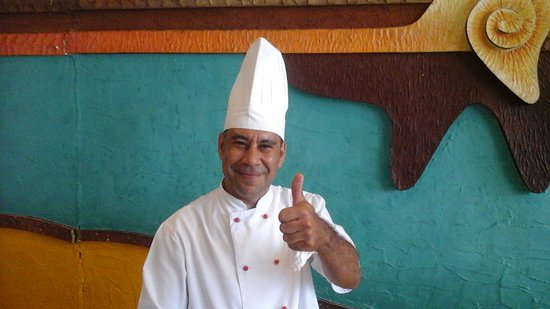 "Brisas Guardalavaca Hotel: My omelet chef ""Zorba"" 2018 a young Anthony Quinn"