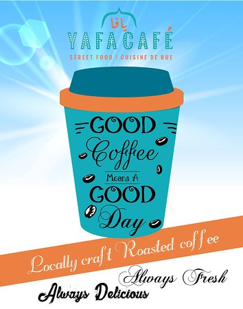 Yafa Cafe: Our coffee is always decisious