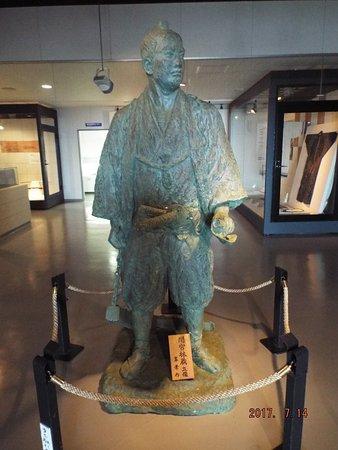 100th Year Memorial Tower: 展示スペースで間宮林蔵