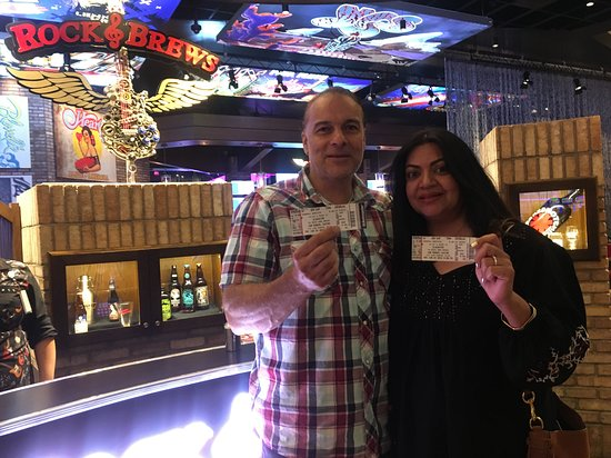 Rock & Brews: Club Serrano member Namreeta and Anthony won a concert with rock band Slaughter on June 29, 2018