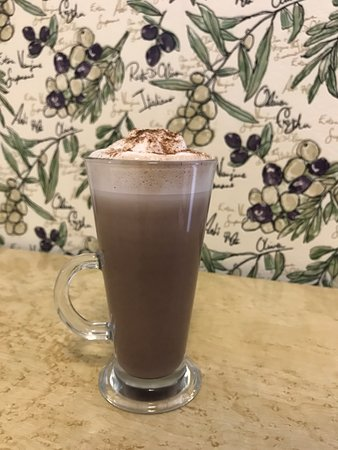 The Cafe Royale: Hot Chocolate with a dash of Monin Hazelnut syrup