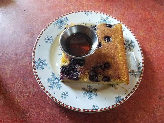 Bouldin Creek Cafe: The infamous blueberry cornbread!