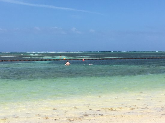 Catalonia Punta Cana Golf & Casino Resort: The sea is very shallow and fenced