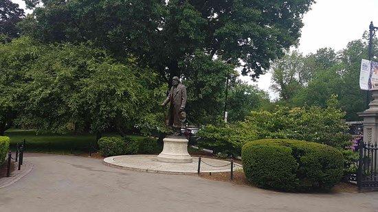 波士顿公共花园照片