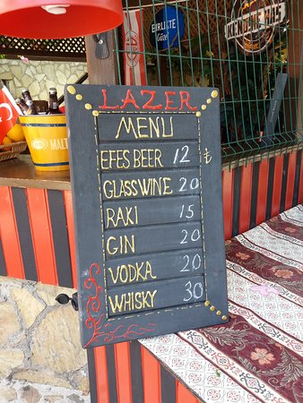 Lazer Pension: Menu