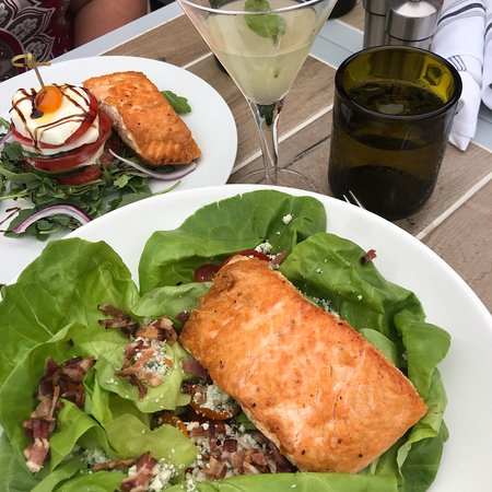 Amherst, NH: Bibbed Lettuce Salad with Salmon