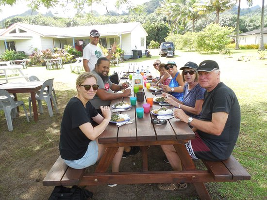 'Discover' Rarotonga Cycling Tour with Lunch: We really earned our lunch.