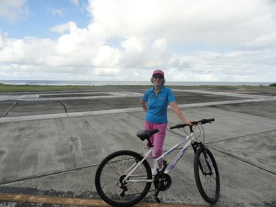 Lois and bike Ofu June 2018
