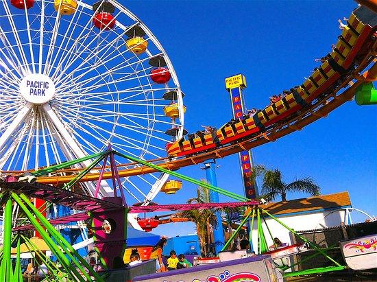 Santa Monica Pier: Pacific Park Roller Coaster