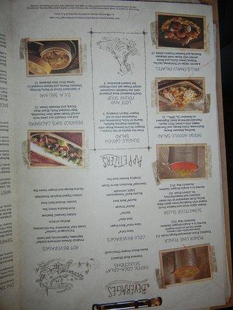Jungle Navigation Co. Ltd. Skipper Canteen: appetizer menu