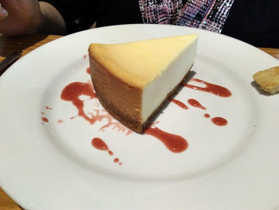 Chili's: Cheesecake was good, needed more of the sauce.