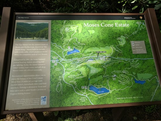 Moses H. Cone Memorial Park: Moses Cone Estate Map