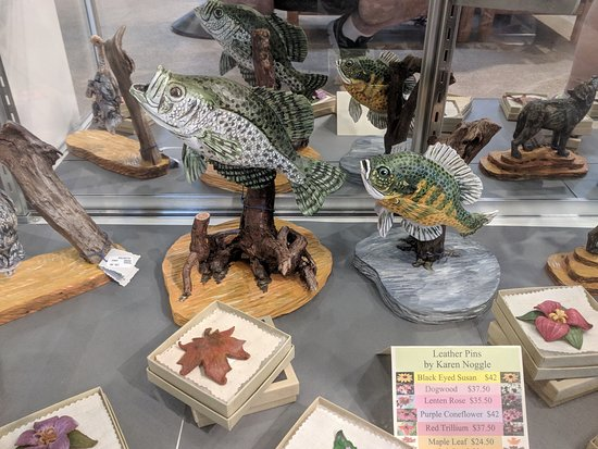Moses H. Cone Memorial Park: Hand carved wooden fish