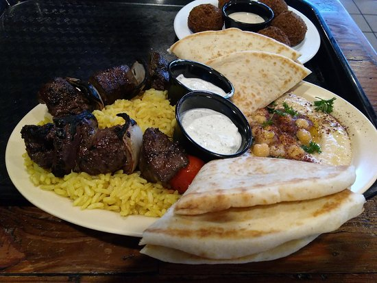 Olea Mediterranean Kitchen: Beef platter.
