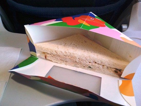 IndiGo: Junglee chicken sandwich, pretty good