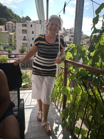 Meljine, Montenegro: Mrs Branka, the host