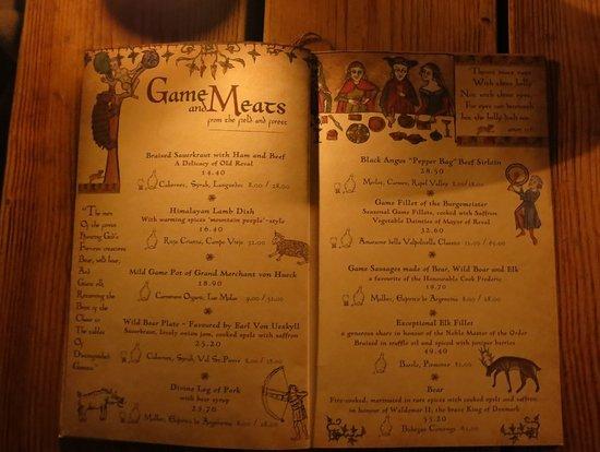 Olde Hansa: Game Meats - Menu