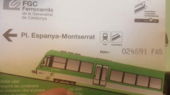 Монастырь Монсеррат: Train ticket