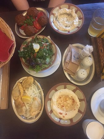 Klub Cestovatelu: First part of the mezze. Meat came later, but we ate it before I could take a picture.