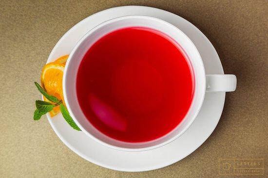 Letters: fruit tea - 1 €