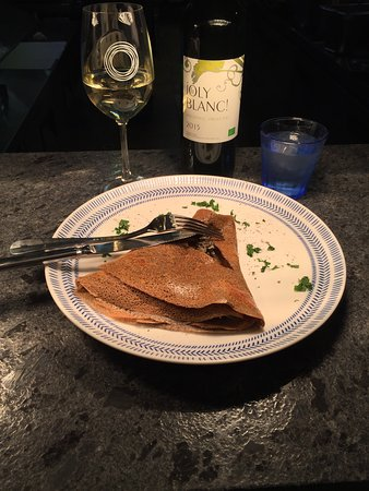 "The Crêperie: ""Petit gris"" galette (Buckwheat, french snails, garlic butter)"