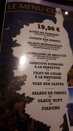 Pub Concorde: Le Menu Corse