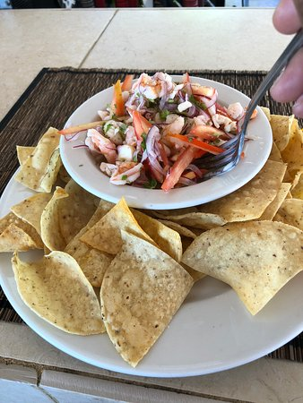 Blue Water Grill: Shrimp, Lobster, and Octopus Ceviche