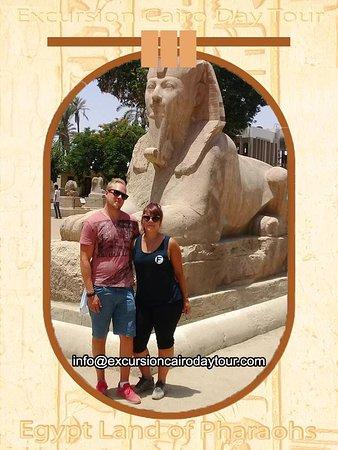 Excursion Cairo Day Tour: alabaster sphinx in Memphis