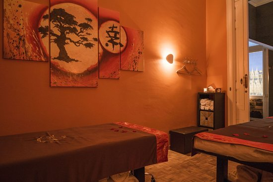 Thai Spa Massage Barcelona: Sala de parejas con 2 camillas Thai