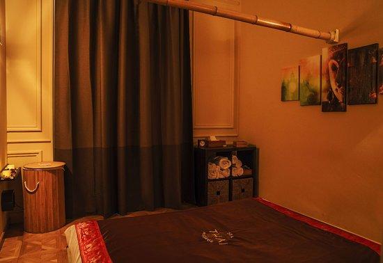 Thai Spa Massage Barcelona: Sala con Tatami para masaje Thai Tradicional