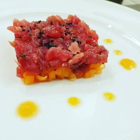 Le Tartare Cucina & Vini: Tartare di tonno con melone