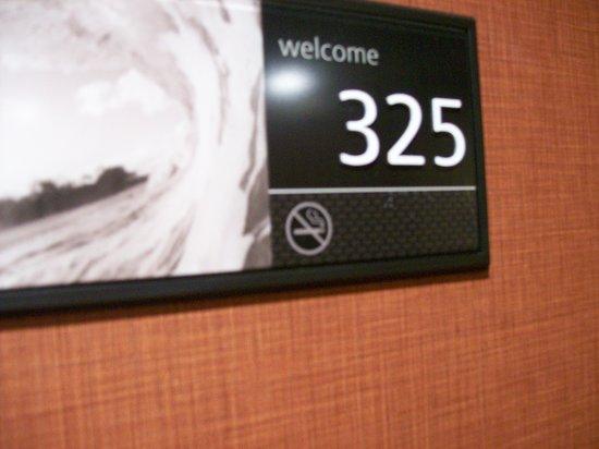 Hampton Inn Anderson: Room Signage