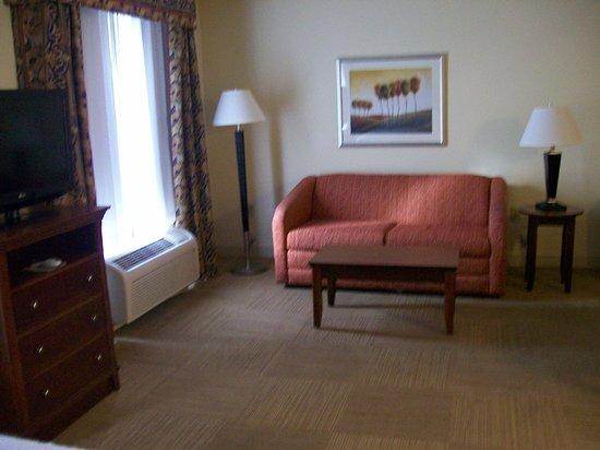 Hampton Inn & Suites Savannah - I-95 S - Gateway: Room 622. Sleeper Sofa area