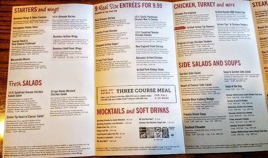 99 Restaurants: Menu One