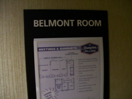 Hampton Inn & Suites Frederick-Fort Detrick: Signage to One of the Hotel's business conference room