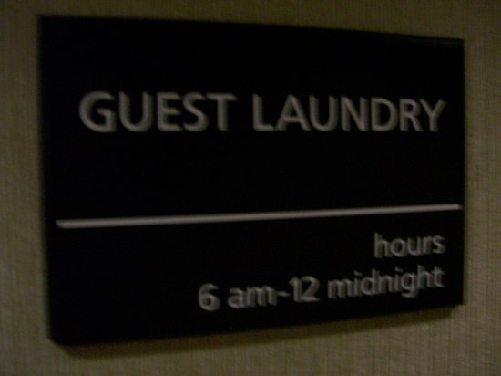 Hampton Inn & Suites Frederick-Fort Detrick: Signage to the Hotel's Coin Guest Laundry Room