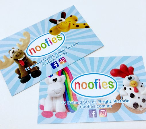 Noofies: Business cards.