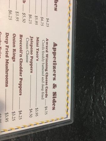 Luxemburg, WI: menu